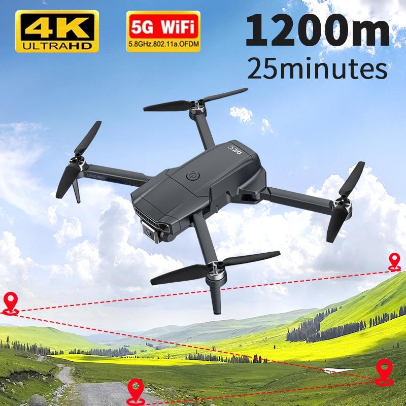 2021 nuevo L800 Pro Drone GPS 4k profesional Cámara Dual HD pecado escobillas fotografía aérea Wifi plegable helicóptero Quadcopter