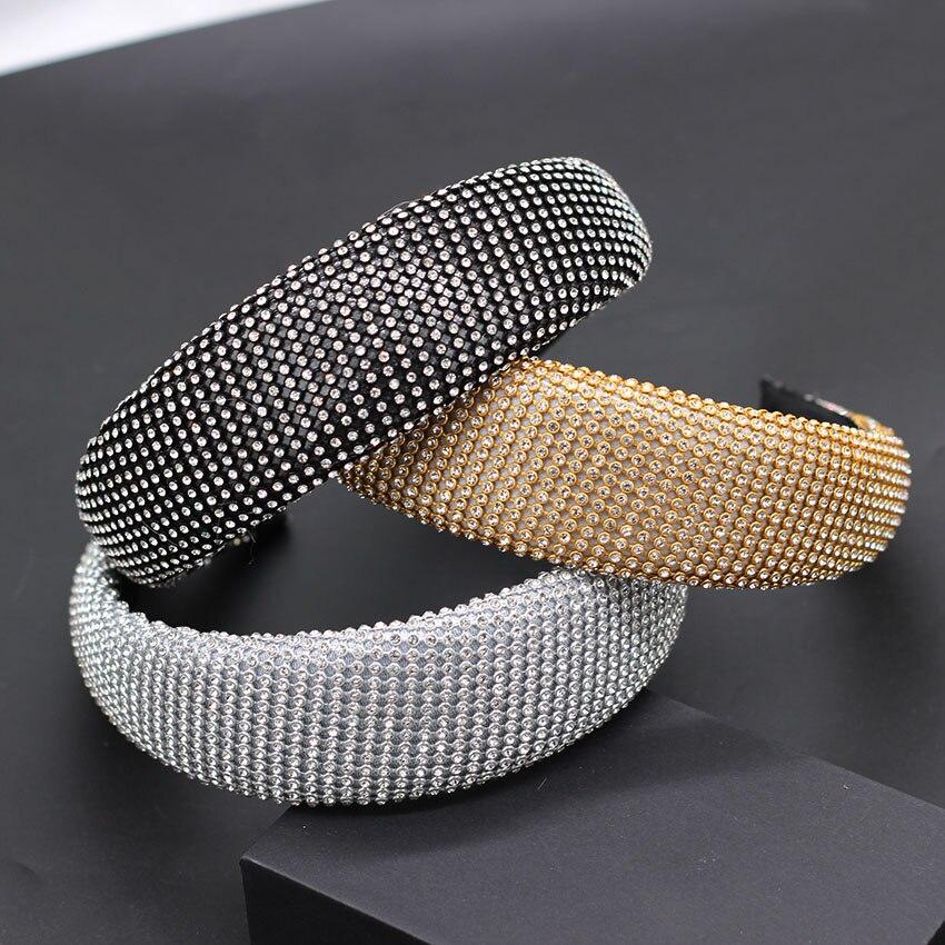 Baroque full rhinestone headband star with multi-color geometric rhinestones exaggerated ball show catwalk travel headband 709