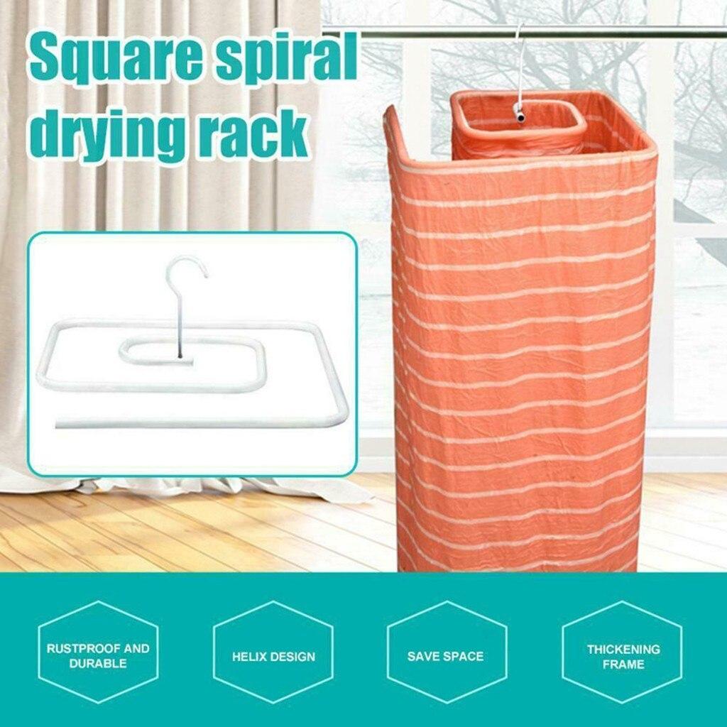 Multifunction Hanger Spiral Shaped Drying Rack Quilt Blanket Rotating Rack Fast Drying Home Storage Organizer