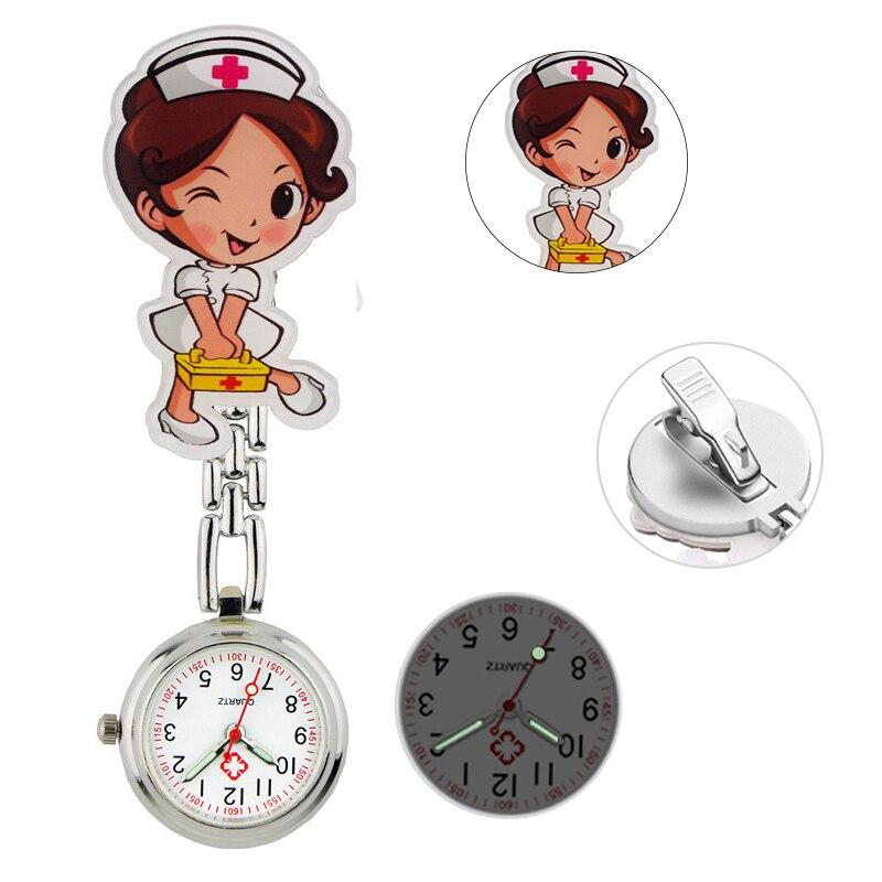 ALK Fob Nurse Pocket Watches Quartz Brooch Medical Watch Cartoon Cute Kawaii Patterns Doctor Clock Gifts Hospital Dropshipping фото