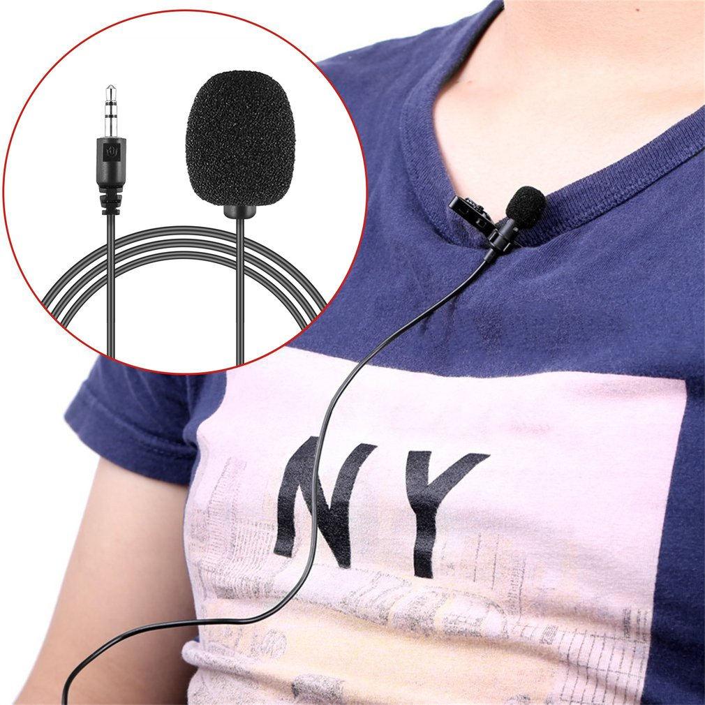 Newest Portable External 3.5mm Hands-free Mini Wired Clip-on Lapel Lavalier Microphone For PC Laptop