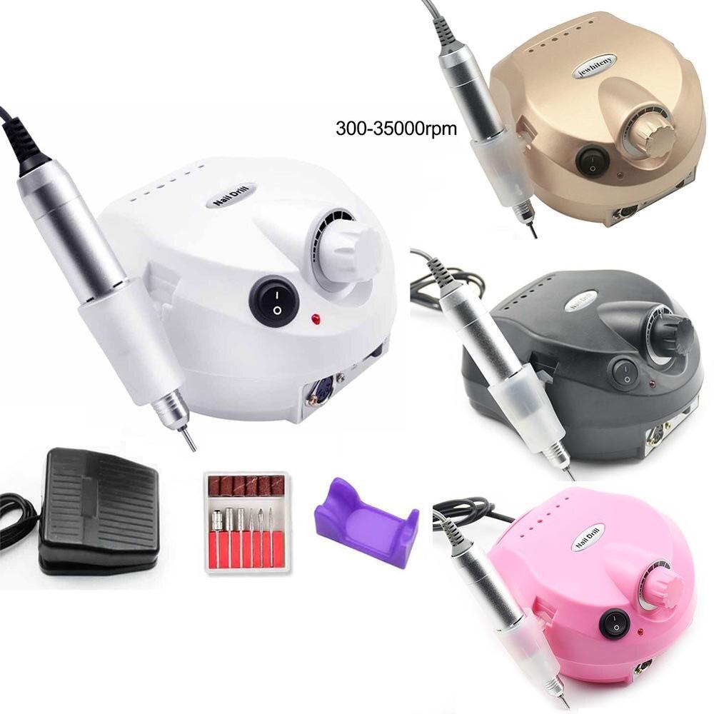 Equipamento da Broca do Prego Máquina de Manicure para Manicure Kits com Fresa Ferramenta da Arte do Prego Profissional Ferramentas Broca 35000rpm