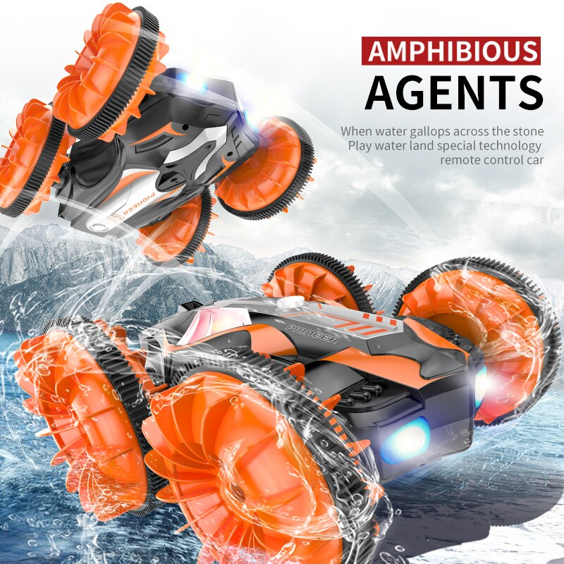 JJRC C10 RC Car Remote Control Water & Land 3D Flip High Speed Stunt Drift Crawler Battery Operated Car radio controlled machine enlarge