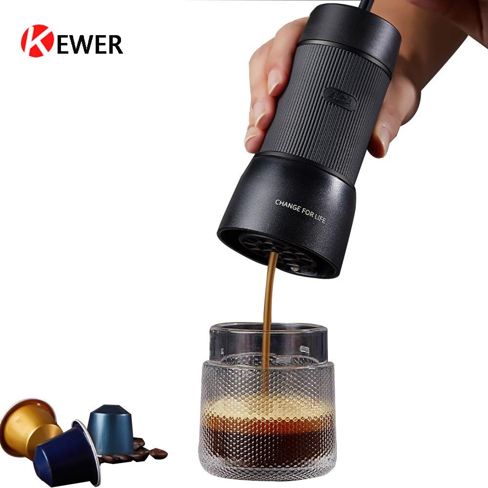 Hand Press Coffee Maker Multifunction Home Mini Italian Espresso Capsule Coffee Machine Portable Coffees Maker Milk Foam Maker