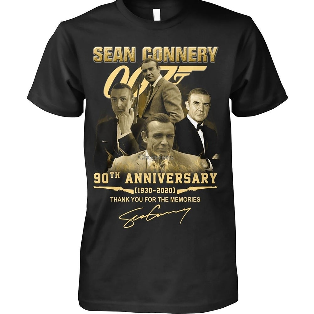 Sean Connery 007 90th Anniversary Thank You For The Memories T Shirt