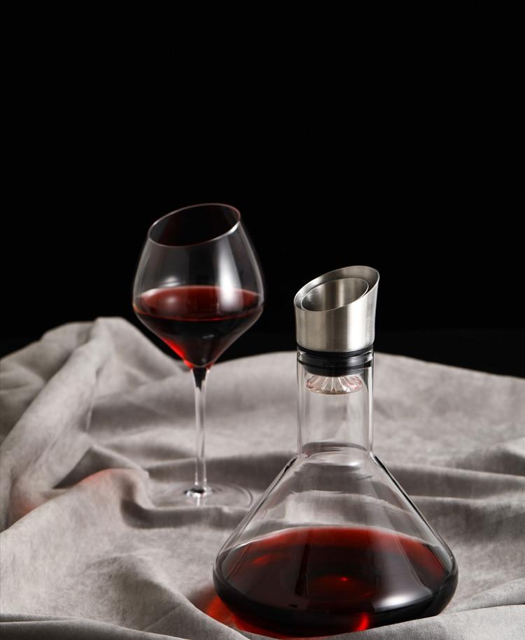مثلث نوع 1200 مللي الراقية كريستال الدورق مع غطاء تخزين نوع الدورق شلال نوع النبيذ صب أداة لاستخدام شريط