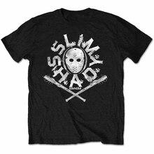 Eminem T-shirt Slim Shady Hockey Masker Zwarte Mens Marshall Mathers Nieuwe Nieuwe Trends Tee Shirt