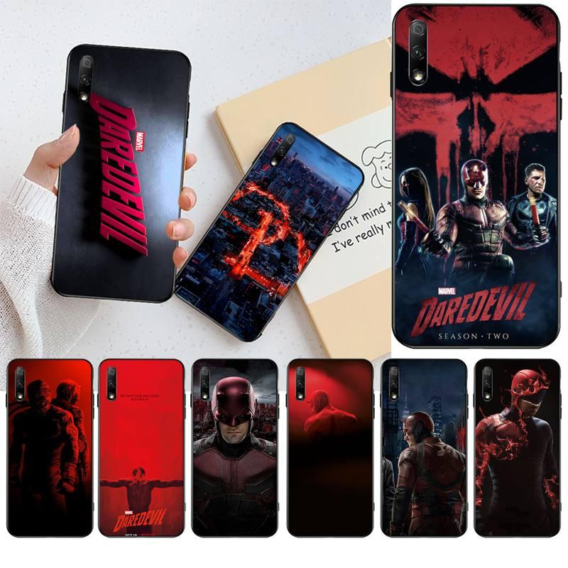 KPUSAGRT Marvel temerario negro Funda del teléfono para Huawei Honor 30 20 10 9 8 8x 8c v30 Lite ver pro
