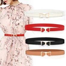 2020 mode PU cuir femmes maigre papillon Bow taille ceinture Dor robe étroite mince robe ceinture offre spéciale taille accessoires