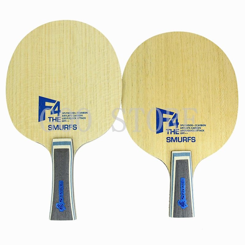 Original Sanwei Smurf F4 professional ping-pong board, external 5+2 structure, suitable for fast-paced offense