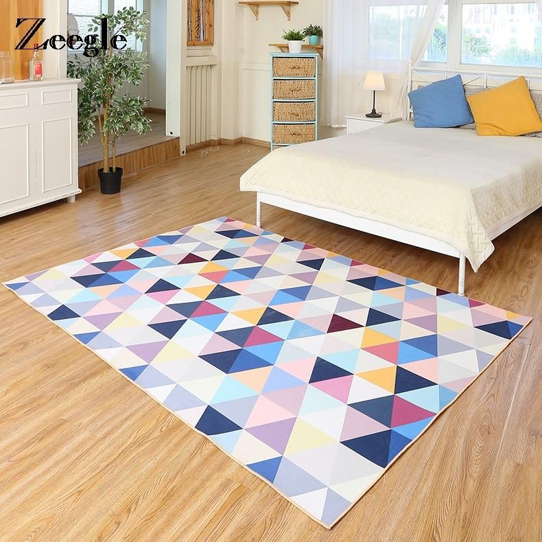 Zeegle-سجاد بنمط هندسي ، سجادة ماصة كبيرة لغرفة المعيشة ، ديكور غرفة النوم