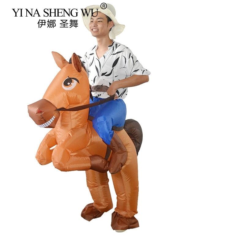 Надувной костюм для взрослых, большой хвост, лошадь, косплей, Хэллоуин, карнавал, талисман, одежда для женщин и мужчин, вечерние реквизит на д...