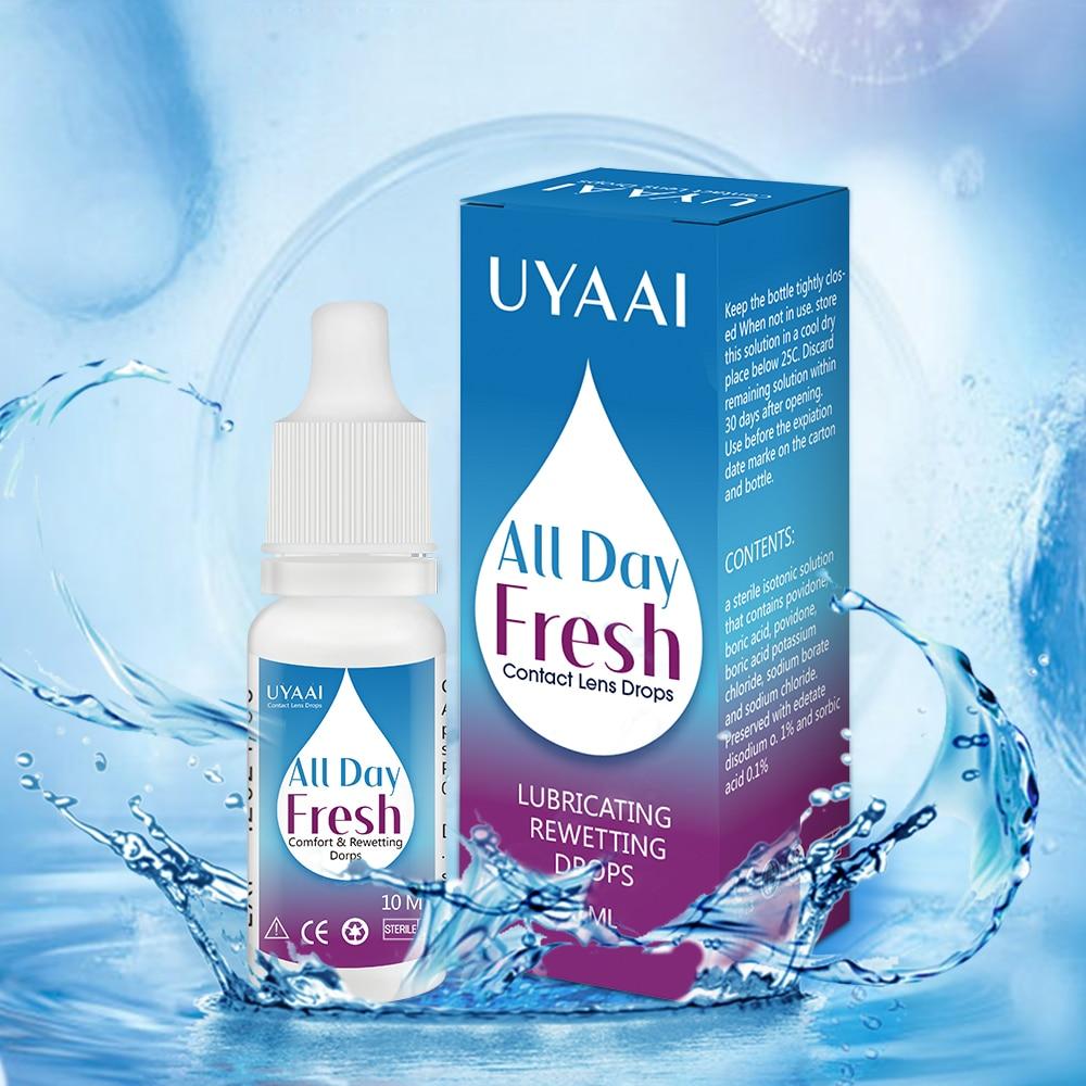 UYAAI 10ml Eye drops lens liquid lens solution Comfort Rewetting Drops Contact Lenses Drops Beauty P