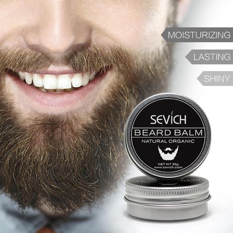 Natural Creme Condicionador Profissional Para O Crescimento Orgânico Bigode Barba Barba Barba Cera Para barba Estilo Suave 30g