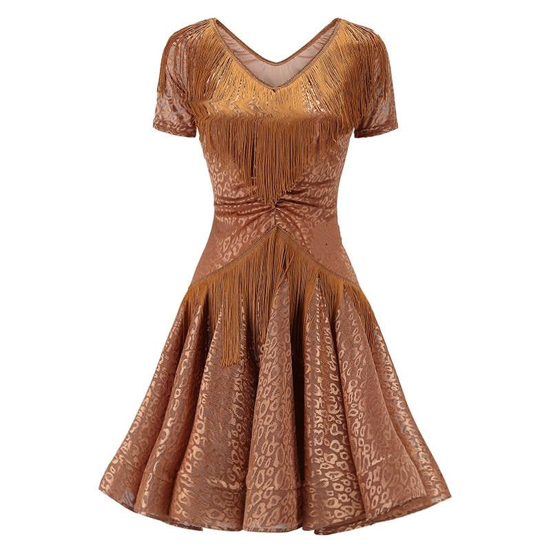 Vestido de baile latino vestido de oferta especial vestido de baile latino para mujer vestidos de Salsa latina vestido de flecos
