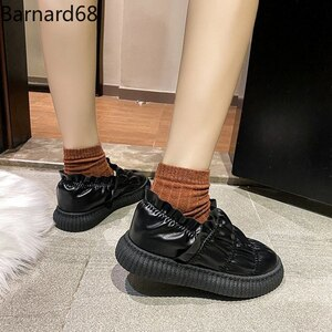 Set foot loafers 2021 winter new plus velvet warm short boots Korean thick-soled cotton shoes women's short boots casual shoes