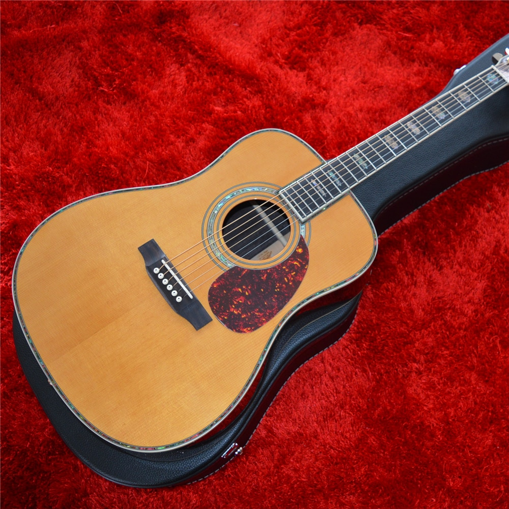 Professional 41 Inches D Style Solid Cedar Top Acoustic Guitar with Rosewood Back and Sides enlarge