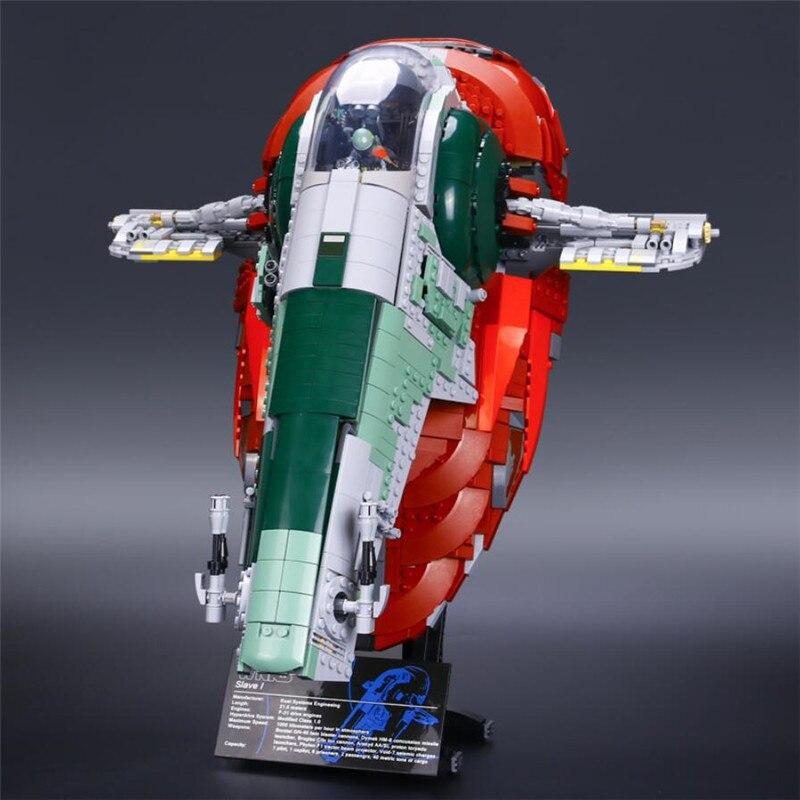 Bloques creativos de Star Wars UCS I Slave NO.1 modelo de construcción compatibles con Lepin 75060 2067 Uds ladrillos juguete tradicional