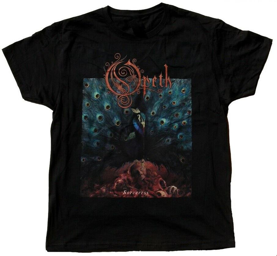 Camiseta cómoda negra de hechicera Opeth