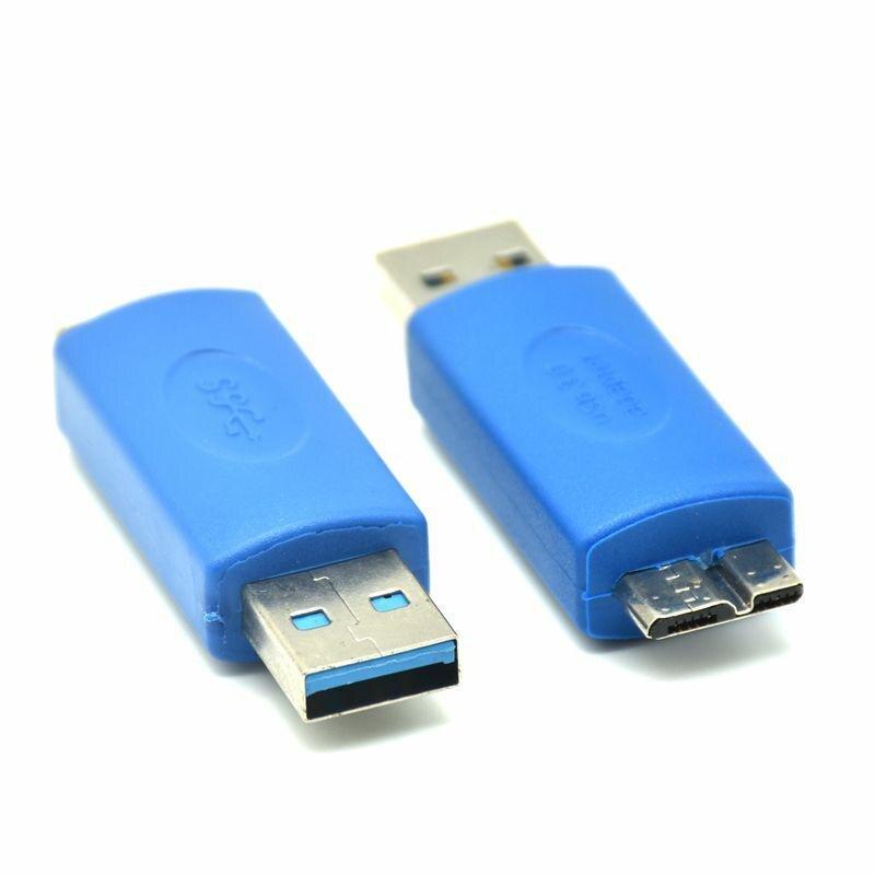 Adaptador USB 3,0, estándar azul, Micro B de macho A tipo A...