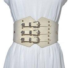 Corset Wide Belts for Dresses Women Belts Cummerbunds PU Leather Elastic Black Vintage 2020 New Ladies Accessories Belts Female