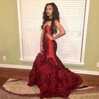 vestido de 15 a%c3%b1os prom abendkleider kristall ruffles burgundy mermaid long evening party special occasion quinceanera dresses