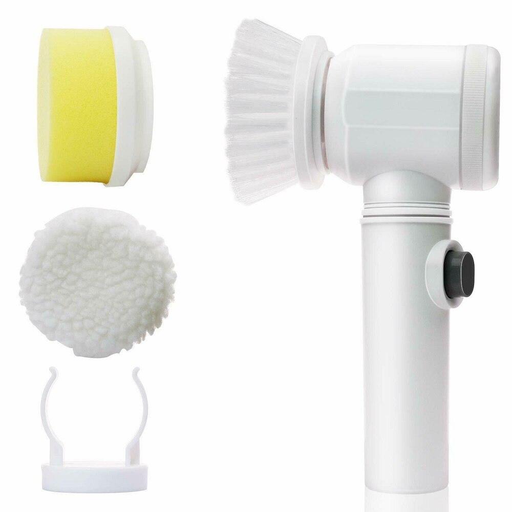 Cepillo de limpieza eléctrica manual 5 en 1 para baño, y Tina Toile, trapos, cepillo de limpieza de cocina, cepillo, herramientas de limpieza del hogar, triangulación de envíos