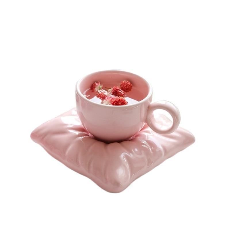 الإبداعية لطيف فنجان القهوة الفاخرة الشمال السيراميك مع ملعقة بسيطة اللون الخزف سعة كبيرة القدح درينكوير DA60BYD