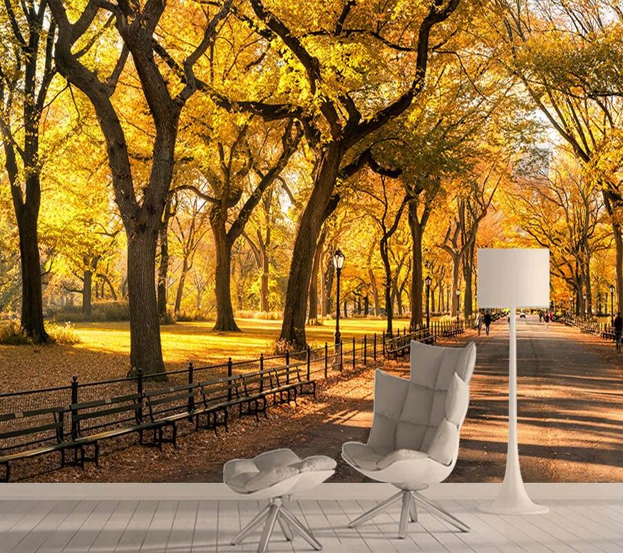Natural otoño fondos forestales para pared de salón de papel pintado con foto 3d paredes papeles a casa decoración 3 d póngase en contacto con murales rollos