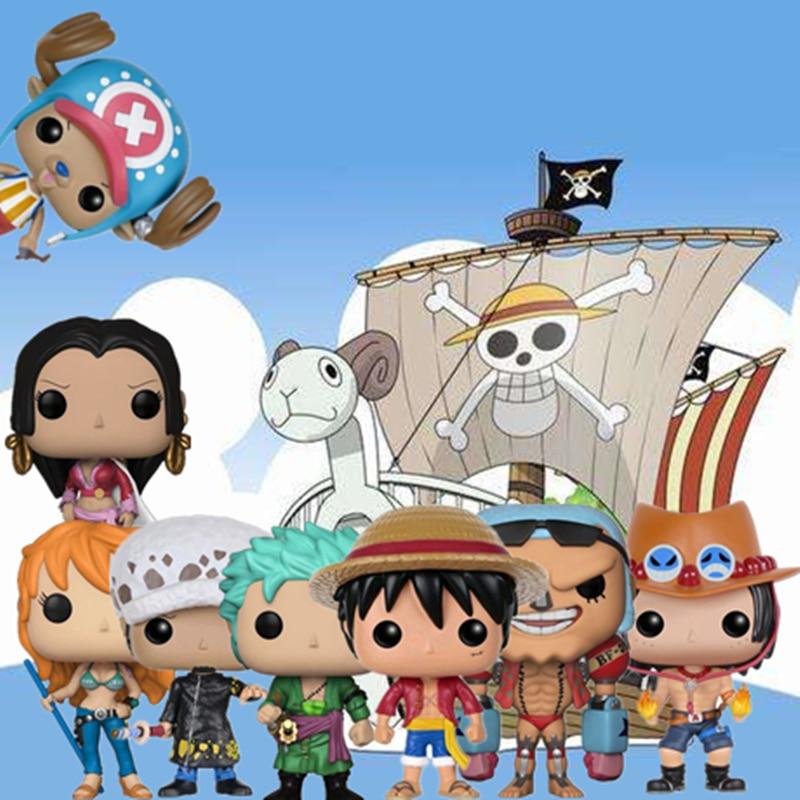 Funko Pop Japanese AnimeOne Piece Character Monkey D. Луффи-Зоро-нами-Чоппер-FRANKY-LAW подарок на день рождения фигурка модель игрушки