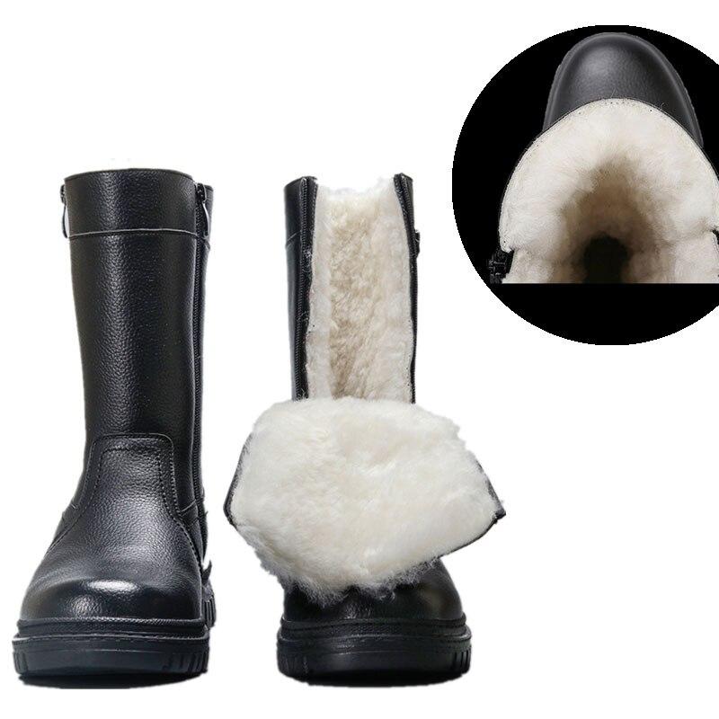 Botas de Inverno dos Homens de lã Sapatos de Pelúcia Botas de Neve do Vintage de Alta Natural Antiderrapante Confortável Homens Mais Quentes Quente Qualidade Sapatos Vogue 2021