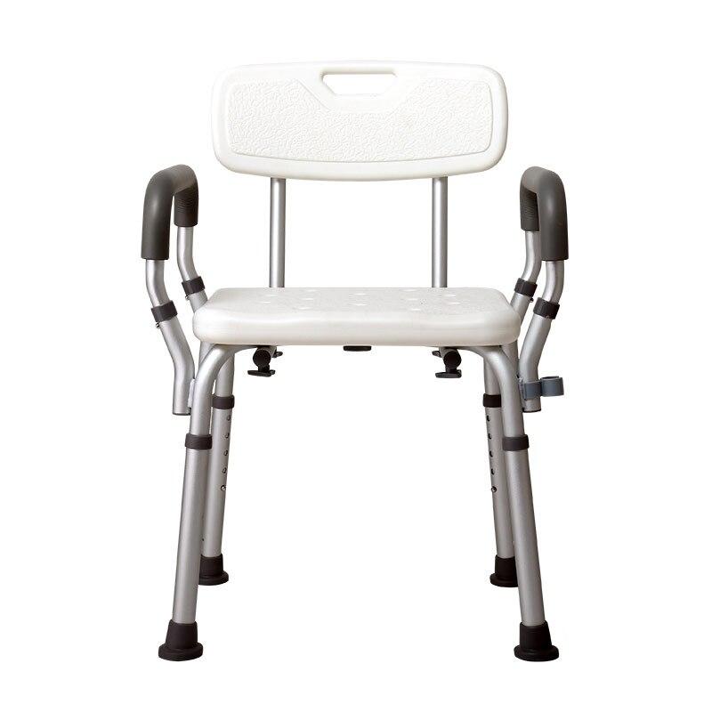 Hotaqi كرسي استحمام مع مقعد استحمام قدم قابل للتعديل مع إطار من الألومنيوم لكبار السن والأطفال والنساء الحوامل ، مقعد استحمام