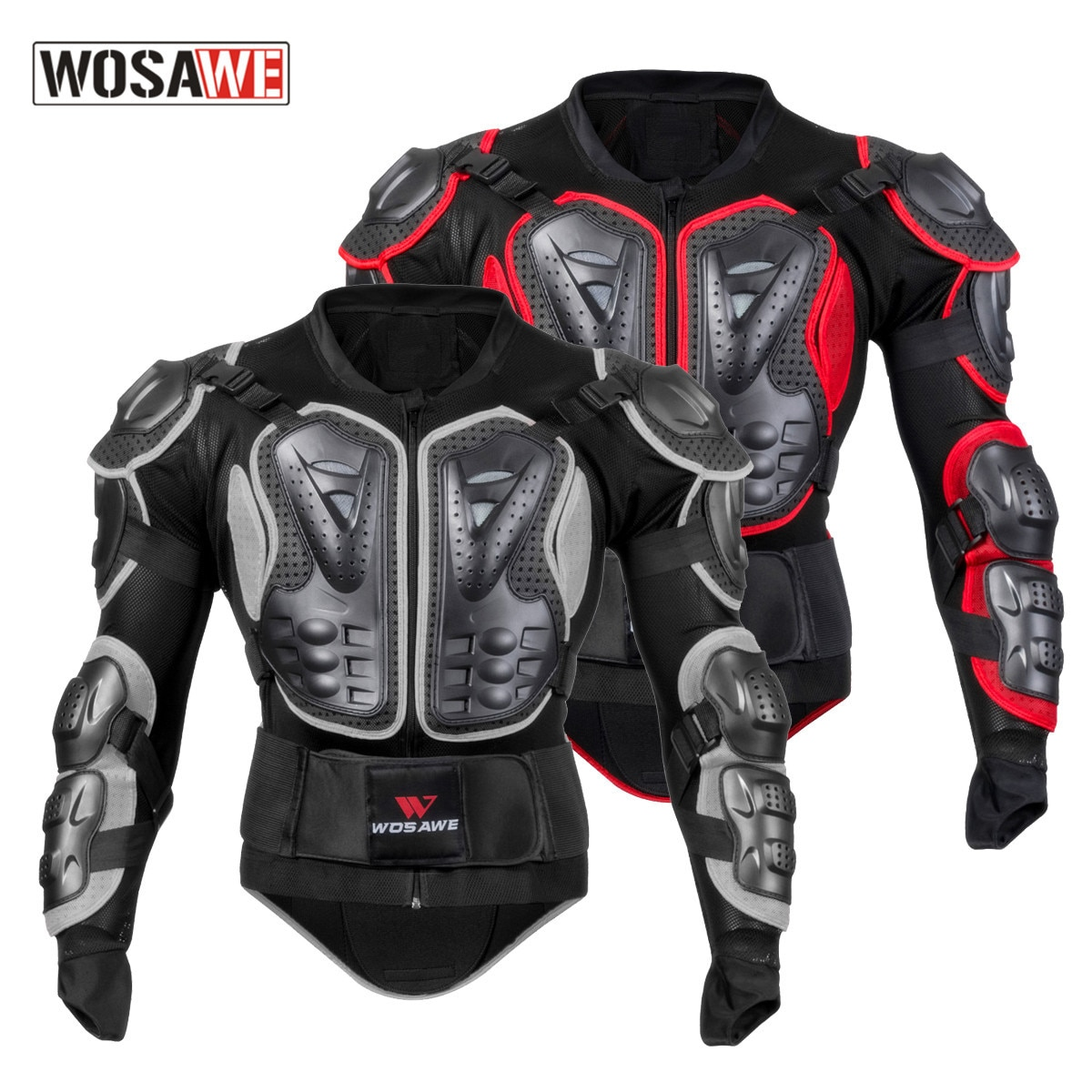 WOSAWE Full Body Motorcycle & Auto Racing Protective Armor/Jackets Snowboard Jacket Gear Back Chest Shoullder Elbow Protection
