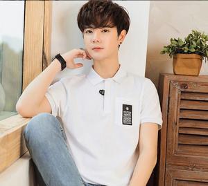 ZNG 2020  Fashion Classic Men Polos Shirt Summer Short Sleeve Polos Shirt Mens Solid Shirt Cotton Shirt