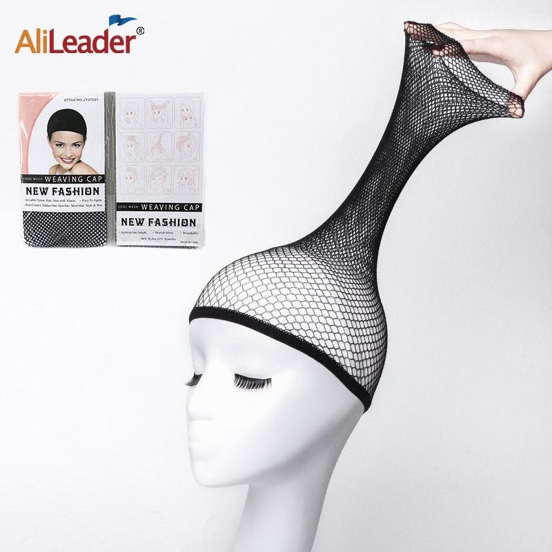 Alileader Beauty Wish Wig 1Pcs-5Pcs New Stretchable Elastic Hair Nets Snood Wig Cap Cool Mesh Cosplay Black Color FishHairnet