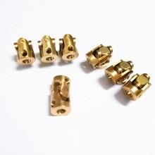 Mini coupling brass universal joint 3mmx3mm diameter 7mm length 13mm model ship coupler gimbal