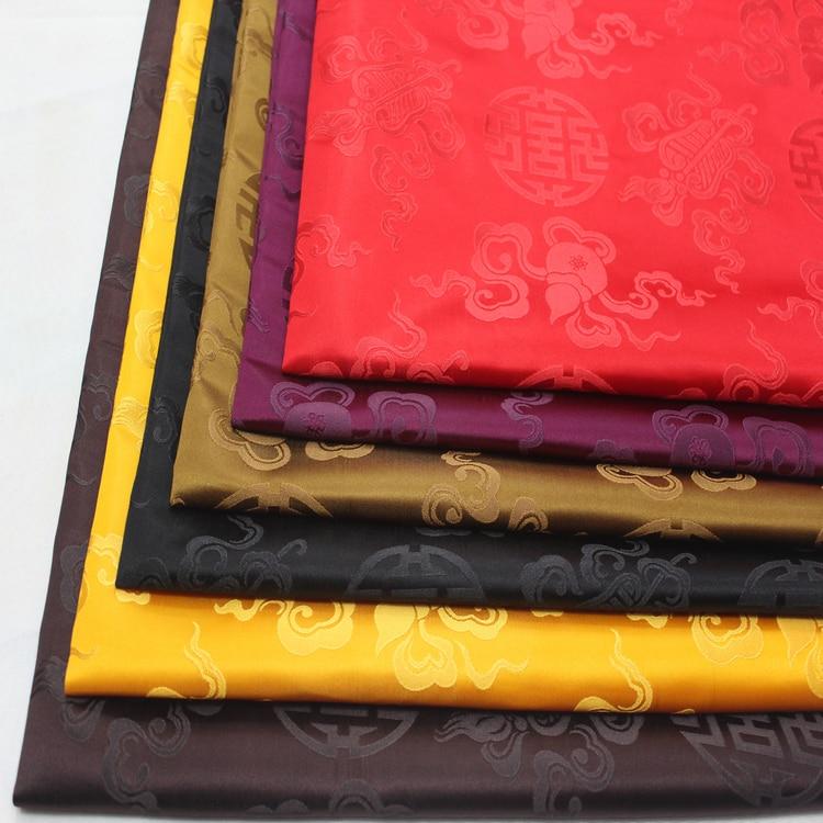 Costume Tang en tissu jacquard chinois   Tenue mongole, tissu de tournage de film et de télévision, tissu antique en Satin fait à la main