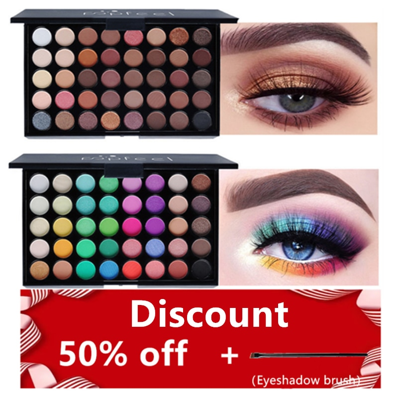 40Color Eyeshadow Makeup Palette Professional Shimmer Eye Shadow Beauty Glitter Make Up Cosmetic Hig