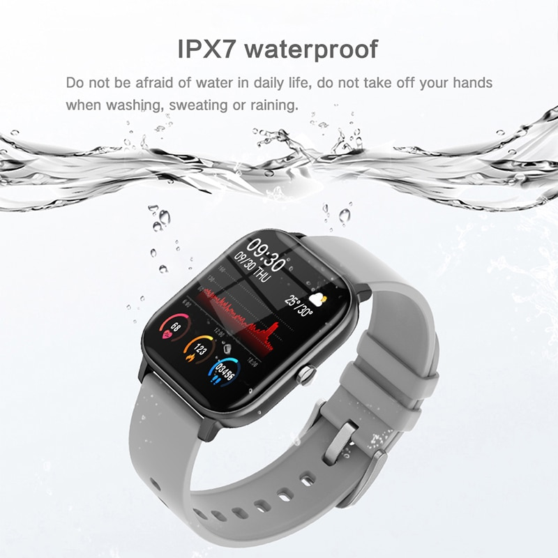 LIGE New P8 1.4 inch Full Touch Women Digital Watches Waterproof Sports For xiaomi iPhone Multifunctional  Electronic Watch Men enlarge