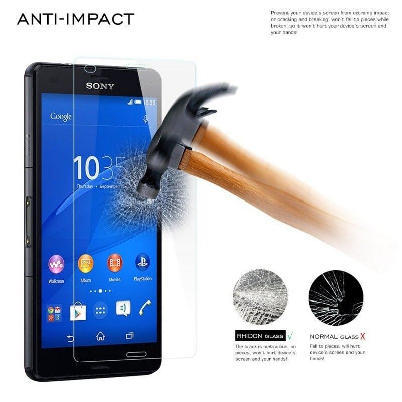 Protetor de tela HD Temperado Para Sony Xperia Compact Z5 Protective Film Premium de Vidro Temperado Para Sony Xperia Z5 Além de Filme