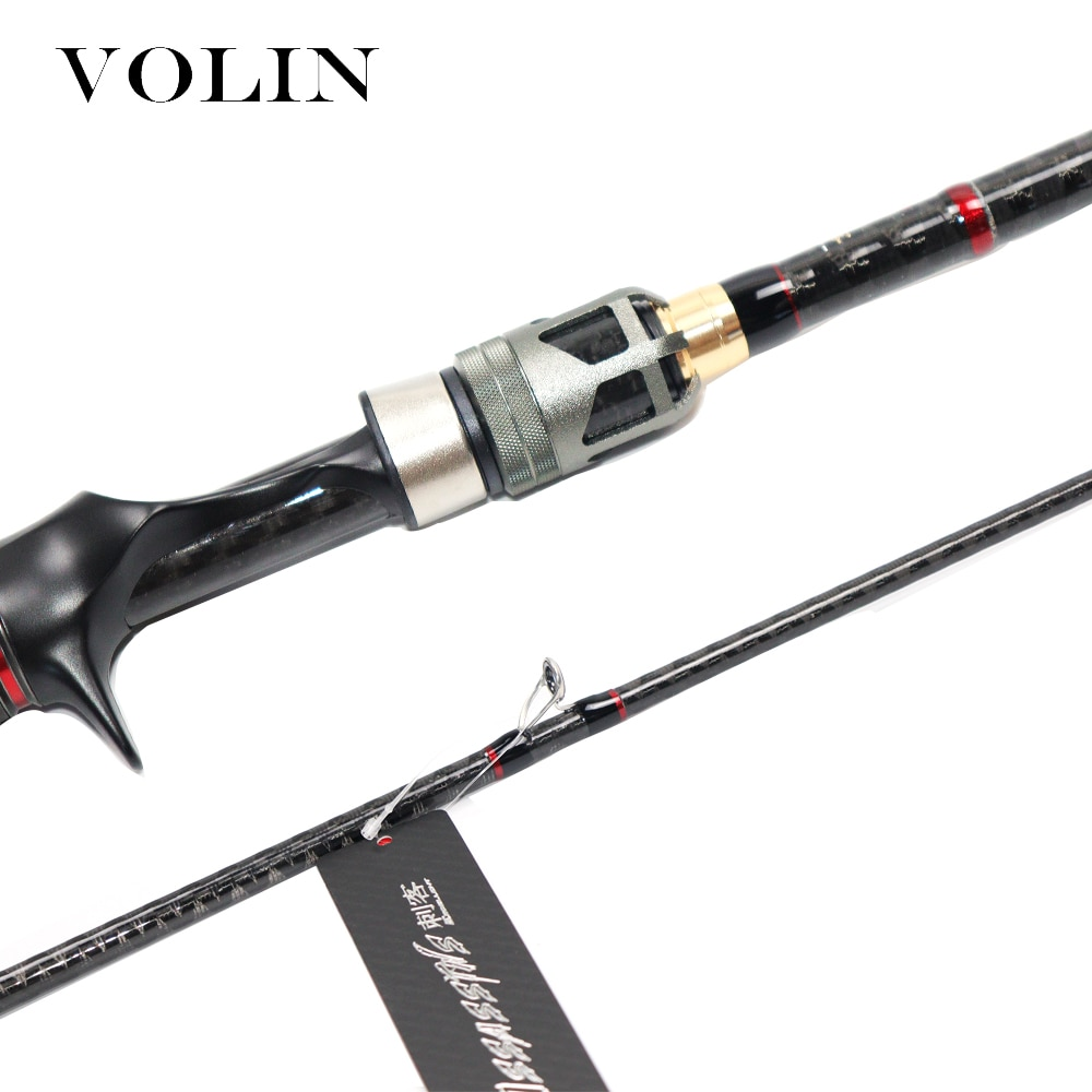 Volin NEW 4 Sections Spinning Rod with Case FUJI Reel Seat Fast Action Casting Fishing Rod Carbon Travel Rod DKK-SIC Guide Ring enlarge