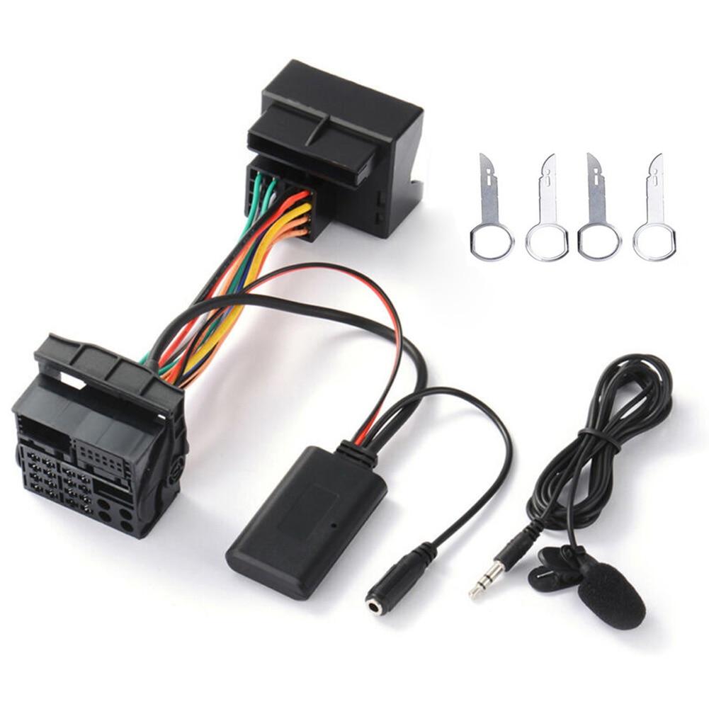 Adattatore per cablaggio Audio aux-in Bluetooth Duable per Ford Mondeo Focus con microfono accessori per lo Styling dell'auto di alta qualità
