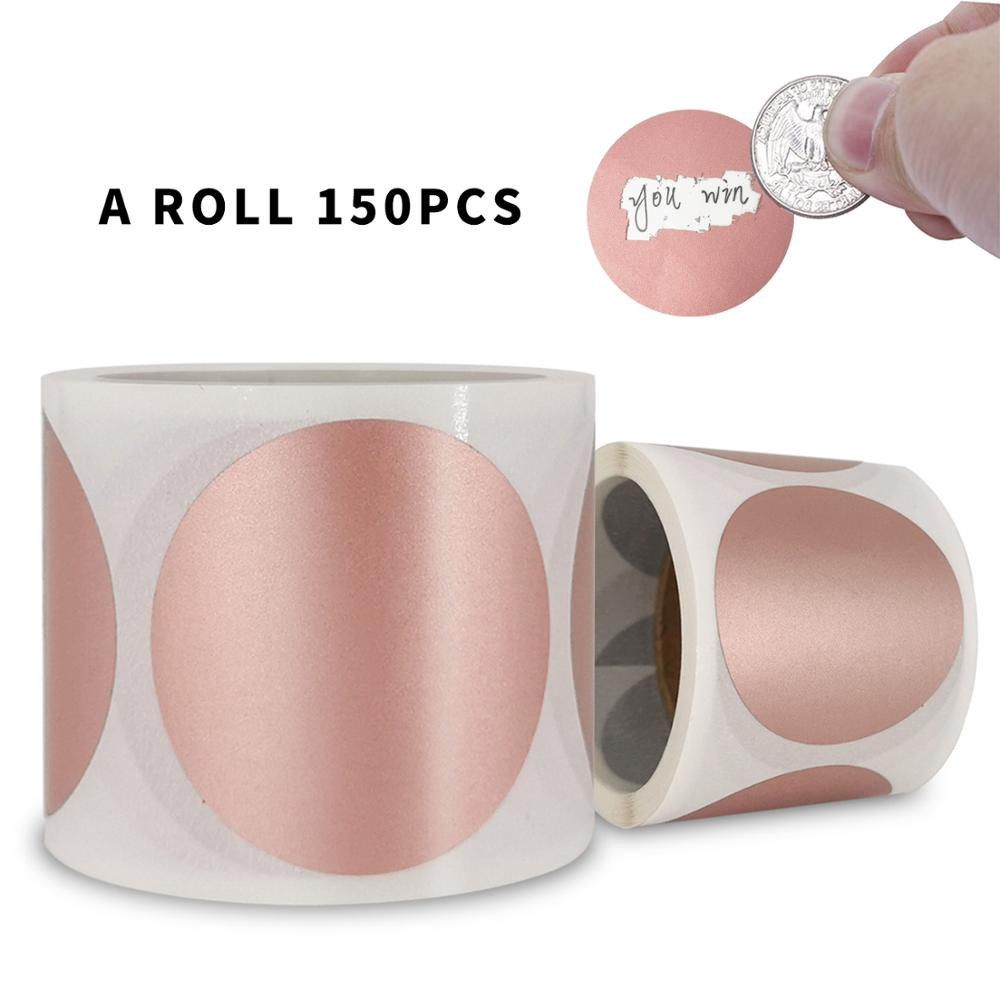 AliExpress - 150 PCS 1.5inch Round Rose gold Scratch Off Stickers for DIY Game Party Activity Sticker Clear Stickers Stationery Sticker