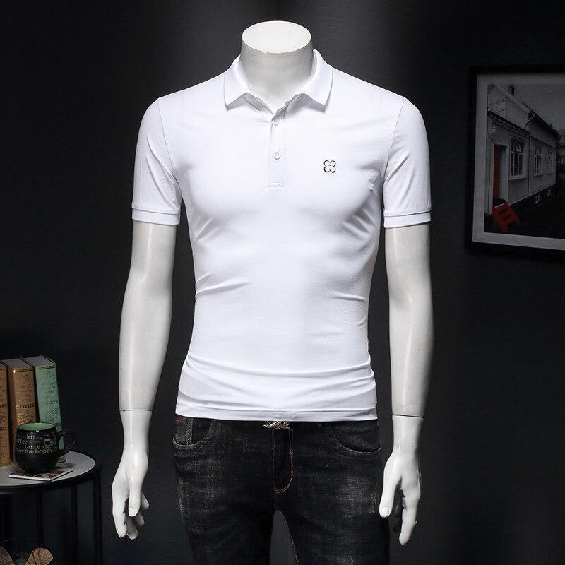 Casual de Alta Inteligente dos Homens Qualidade Designer Verão Nova Camisa Polo Marca Bordado Manga Curta 5xl E166 2022