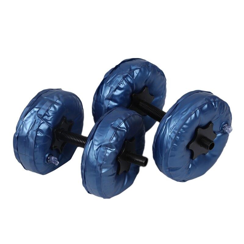 Mancuernas ajustables portátiles de 5 a 10Kg, Juego de 2 unidades, mancuernas de Pvc para Yoga, parque de agua de culturismo, barra de Fitness