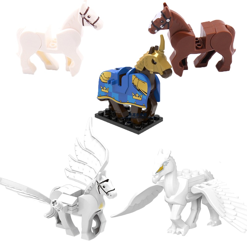 moc 38943 action figure demogorgobed bricks compatible with small building blocks assemble kid s children s toys gifts Movies Animals Figures Battle Horse Model Big Size Building Blocks Bricks Assemble DIY Animal Figure Toys For Children Gifts