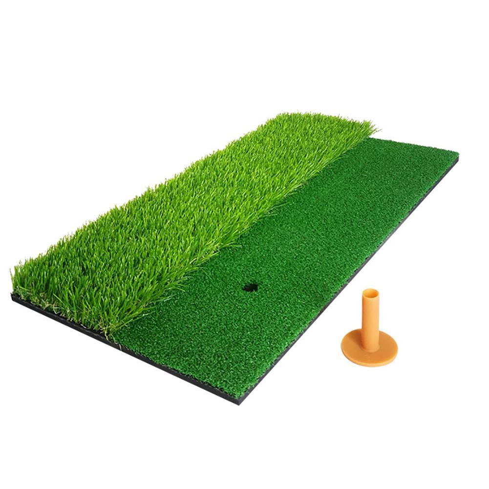 Alfombra de entrenamiento 2 en 1 para golpear Golf, práctica de césped Artificial, alfombrilla con diseño de Tee percet, alfombra de práctica de Golf duradera