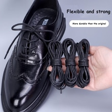 1Pair Cotton Waxed Shoe laces Round Leather Shoelaces for Oxford Boots Waterproof Shoelace Length 60