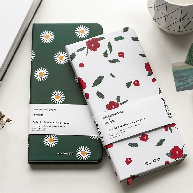 Cute Flower Hand-account Schedule Book Diary Weekly Planner Travel Notebook Hardcover School Office Supplies Student Stationery new products on the shelves lovely flowers schedule diary weekly plan notebook school office supplies lovely stationery