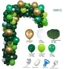106PCS Mori Series Dark Green Balloon Set Birthday Party Supplies Holiday Dress Up Balloon High Qual